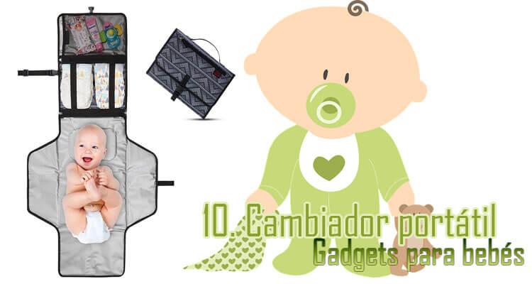 Gadgets Imprescindibles para bebés - Cambiador portátil bebés