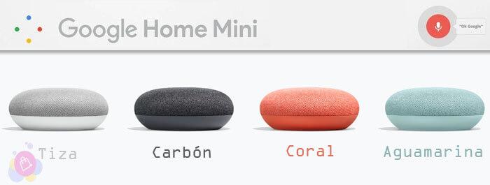 Altavoces inteligentes Google Home mini