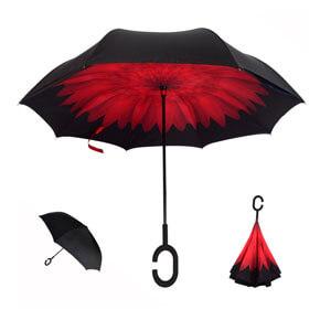 Regalo original paraguas invertido