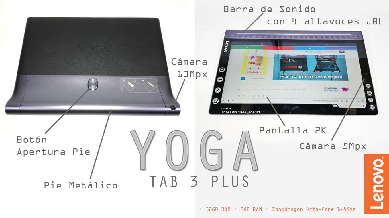 Review en español Yoga TAB 3 PLUS