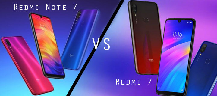 Comparativa Redmi 7 vs Redmi Note 7